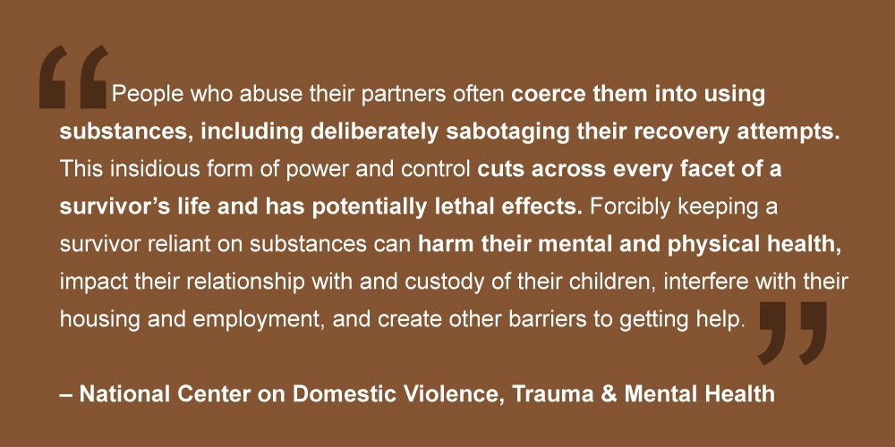 National Center For Domestic Violence Pullquote